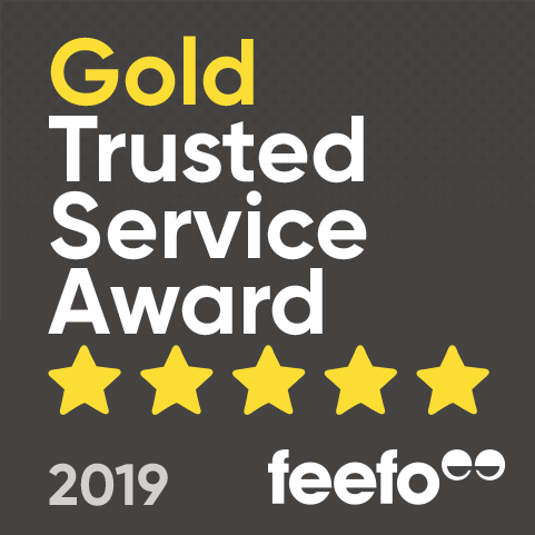 Feefo Gold Trusted Service Award logo
